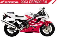 2003 Honda CBR600F4i accesorios