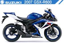 2007 Suzuki GSXR600 accesorios