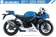 2011 Suzuki GSXR600 accesorios