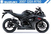 2007 Suzuki GSXR750 accesorios