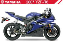 2007 Yamaha YZF-R6 accesorios