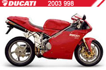 2003 Ducati 998 accesorios