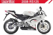 2008 Aprilia RS125 accesorios