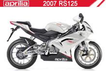 2007 Aprilia RS125 accesorios