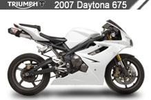 2007 Triumph Daytona 675 accesorios