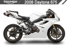 2008 Triumph Daytona 675 accesorios