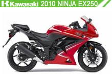2010 Kawasaki Ninja EX250 accesorios