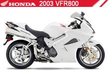 2003 Honda VFR800 accesorios