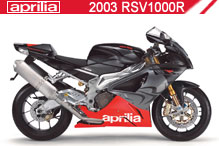 2003 Aprilia RSV 1000 R accesorios
