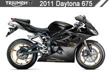 2011 Triumph Daytona 675 accesorios