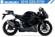 2016 Suzuki GSXR750 accesorios