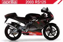 2003 Aprilia RS125 accesorios