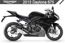 2013 Triumph Daytona 675 accesorios