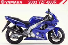 2003 Yamaha YZF600R accesorios