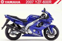 2007 Yamaha YZF600R accesorios